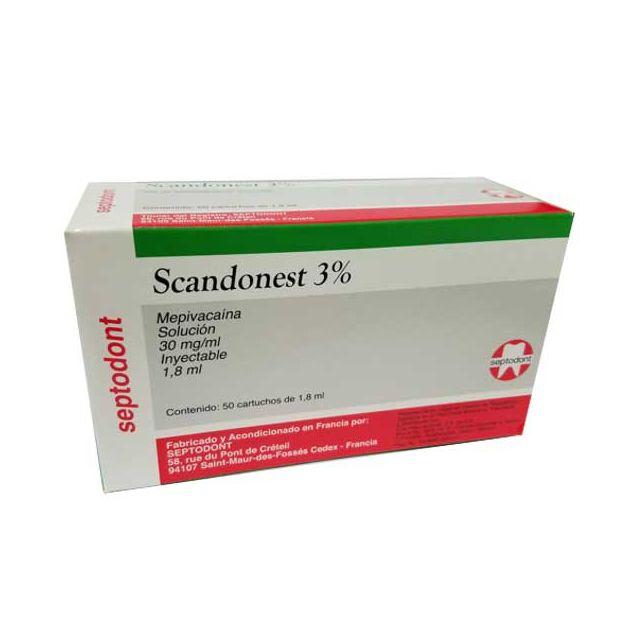 Scandonest 3% (S/vasoconst) Mepivacaina